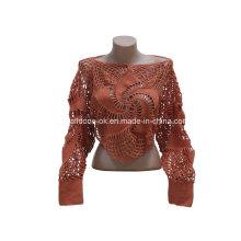 Hand häkeln stricken Pullover Kleidung Westen Kleider Cardigans Garment Top
