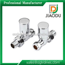 china manufacture customized chrome plated or nickel plated copper drain angle valve for washing machine