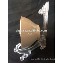 Bol à pied en céramique Porcelaine