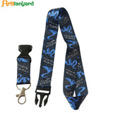 Heat Transfer Printed Lanyard with Metal Hook