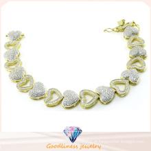 Mulheres coração estilo pulseiras moda jóias para senhora 925 pulseiras de jóias de prata Bt6602
