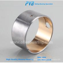 Rodamientos y cojinetes bimetálicos, material de aleación de bronce sinterizado
