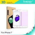 Protector de pantalla de alta calidad para iPhone 7/7 Plus HD GLASS / 2.5D cubierta completa de impresión de seda / borde suave 3D de fibra de carbono / 3D curvado