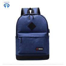 Новый человек USB рюкзак средней школы рюкзак
