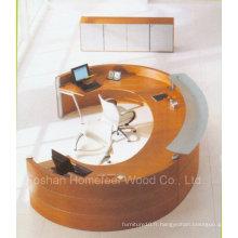 Design Unique Rchalf Ronde / Bureau de réception courbé (LT-E408)
