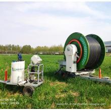 Équipement d'irrigation de dévidoir de tuyau de pelouse