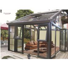 Kundenspezifische Art Hochwertiges gehärtetes Glas Aluminium vorgefertigte Sunroom