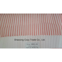 Nouveau tissu de rideau transparent organza de rayures de projet populaire 008281