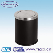 Swing top garbage bin
