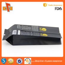 Aprobado por la FDA personalizada de impresión de lado gusset de papel de aluminio bolsa de café al por mayor 250g