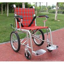 Sillas de ruedas de marco de aleación de aluminio Manual barato