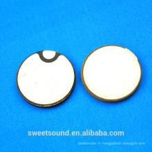 20 mm 1 mhz disque céramique fonctionner en épaisseur prix du transducteur ultrasonique