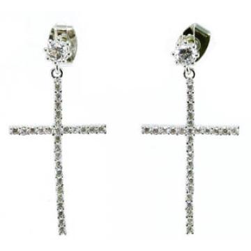 2015cross Earring Fasion 925 Silver Jewelry (E6502)