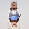 rose gold metal lady bracelet watch quartz, sunray dial watch analog 2015
