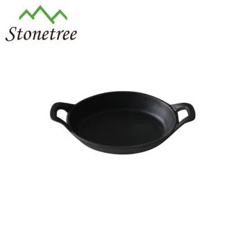 Mini poêle / poêle carrée en fonte à huile végétale