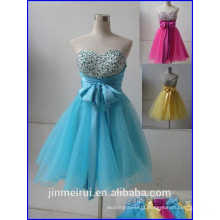 Hot sale Fashion Ball Gown Sweetheart Mini Organza With Bow Lace Up Corset Homecoming Dresses L24