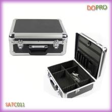 Fornecedor de China de alumínio pasta estilo caixa de ferramentas barbeiro (satc011)