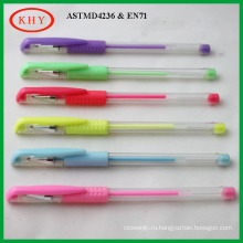 Plastic Gel Ink Pen with Glitter colors