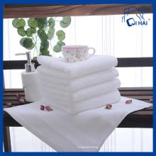 Toalha de hotel de algodão branco 100% algodão (QHSD55903)