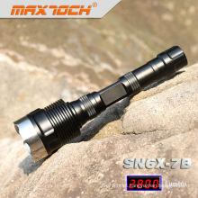 Maxtoch SN6X-7B tático poderoso preto LED Cree T6 iluminação
