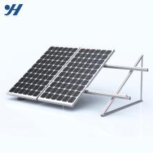 Sistema de montagem de painel solar de aço durável em uso
