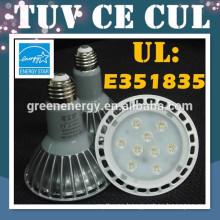 Energy star TUV CE UL CUL par 30 E27 LED cob led spot light 120v 230v par30 led e27 dimmable 16w 11w COB led par30