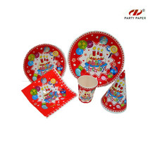 Birthday Party Theme Paper Tableware Set