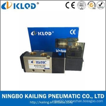 Ningbo KLQD Brand Hot Sale High Quality Pneumatic Air 4V210-08 Solenoid Valve