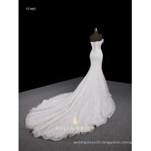 Beading Tulle Bandage Detachable Train Best Price Bridal Wedding Dress