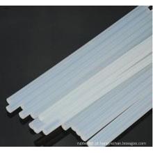 Hastes de borracha de silicone transparente / transparente de extrusão macia