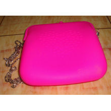 2012 Newest Silicone Coin Purse Hanging Flower Shoulder Handbags With Embossed Logo