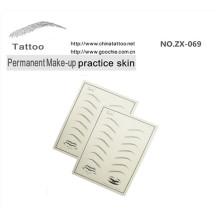 Pele humana falsa Cabeça para prática de tatuagem Maquiagem permanente Pele prática