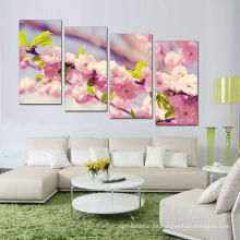 Pfirsich-Blüten-Kunst-Fotodruck / Frühling gedruckte Segeltuchanstrich-Wandkunst