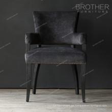 Sillas de acento modernas sillas de comedor tapizadas con brazos