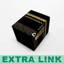 caja de regalo de vela de paquete rectangular de terciopelo de alta calidad con logotipo estampado de papel