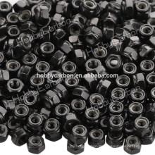 M3 * 5.5 gute Qualität Edelstahl Hex Nylon Sicherungsmutter