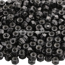 M3 * 5.5 tuerca hexagonal de nylon de acero inoxidable de buena calidad