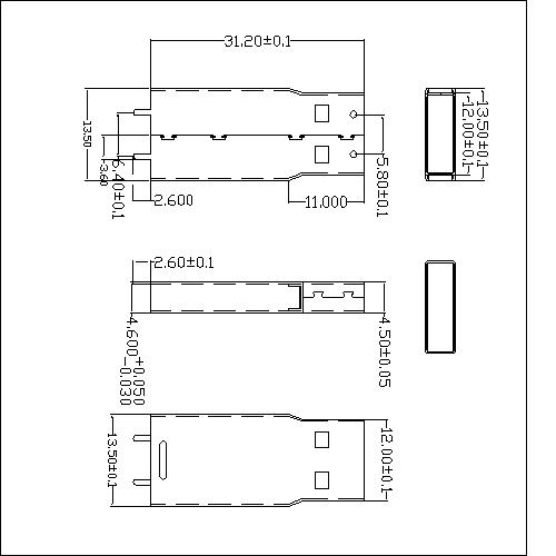 UAMS05 5 USB A TYPE Plug solder with wrist type