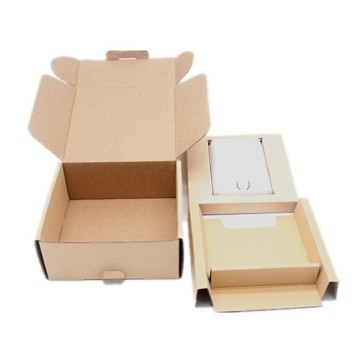 Kraft power bank packing box dengan logo