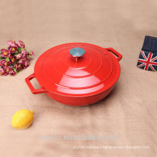 Cast Iron Oval Cocotte( French Oven) bright red