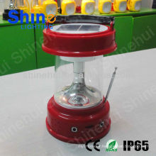 Plastic ABS/Transparent PC With emergency function led lantern camping solar rechargeable camping lantern