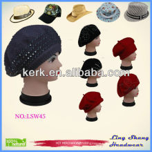 New Winter ladies' hat wool Hat And Cap Factory ,LSW45