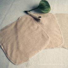 Selling-Hot en Europa Toalla de saliva cuadrada 100% algodón color bebé