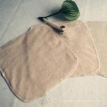 Vente-Hot en Europe 100% coton couleur bébé carré salive serviette