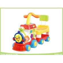 Electronic Musical Toys Happy Train Head Baby Walker with Seat (ride-on or push forward)