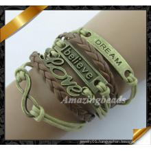 New Fashion Bracelet Wholesale Leather Bracelet (FB0116)
