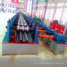 Galvanisé deux vague garde barrière en acier panneau métallique faisant moulage hydraulique rouleau de garde-corps d'autoroute formant la machine