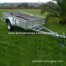 Aluminum Checker Plate Box Trailer, 8 x 5, 3 Leaf Spring, Chassis Measures 2400 x 1500 x 300mm