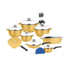 Juego de utensilios de cocina cubiertos de titanio Cookware