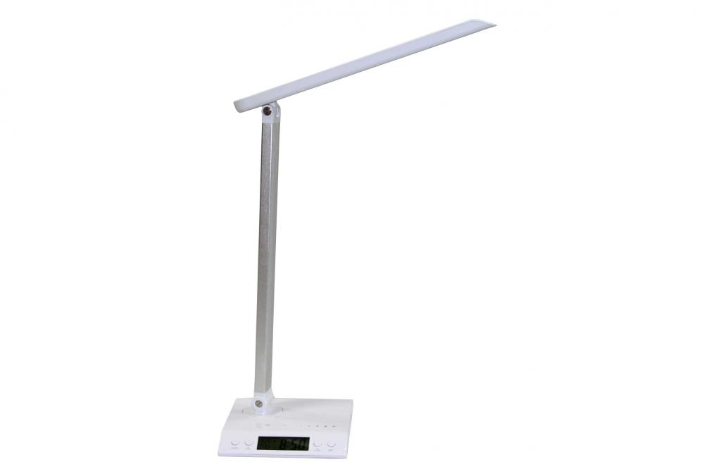LED table lamp with clock